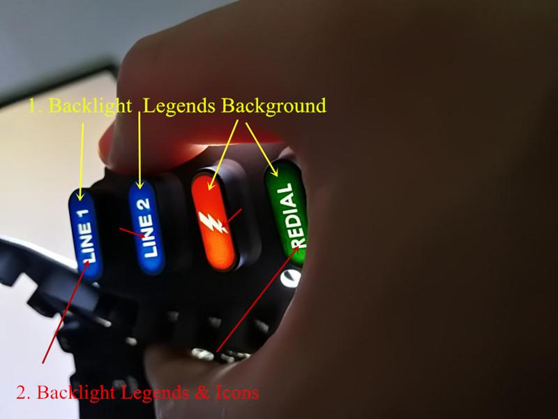 Gummiknöpfe für Hintergrundbeleuchtung